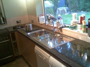 Testing the new worktop with Dab